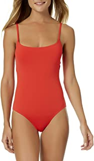 Classic Moderate Leg Maillot One Piece Swimsuit