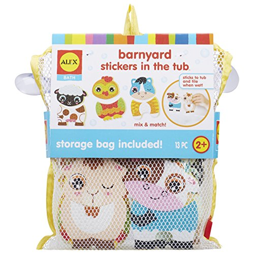 Alex 200103-1 Bath Barnyard Stickers in The Tub, Multicolor Kids Bath Activity