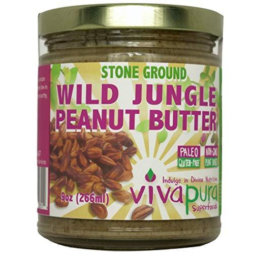 Vivapura, Raw, Organic, Stone Ground, Wild Jungle Peanut Butter, 9 oz Jar