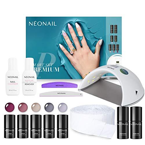 NEONAIL Smart Set Premium Geschenkbox Nagelstudio 5x Colour 3ml uv Nagellack LED Lampe 21W/48W Eco base top cleaner + mehr zubehör im Geschenkset