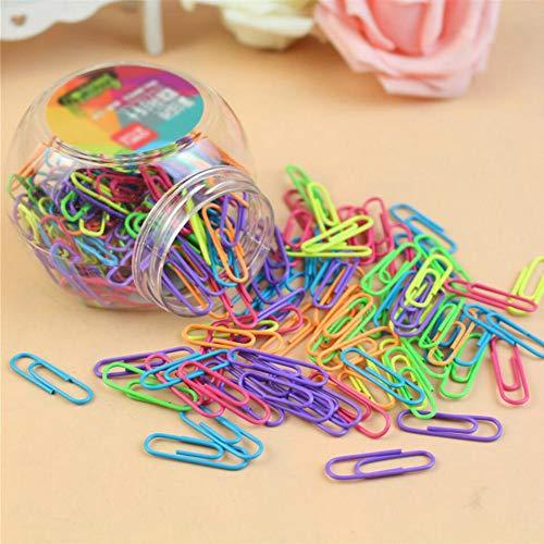 Coideal - Graffette colorate con rivestimento in vinile, confezione da 200 pezzi, 3,2 cm, colori assortiti