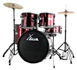 [page_title]-XDrum Rookie 22' Standard Schlagzeug Komplettset Ruby Red & inkl. Schule + DVD