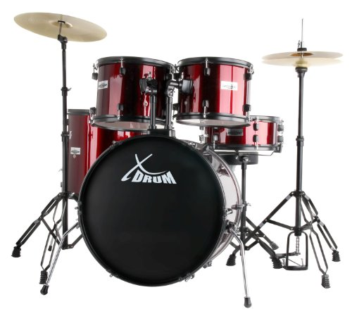 "XDrum Rookie 22\"" Standard Schlagzeug Komplettset Ruby Red & inkl. Schule + DVD"