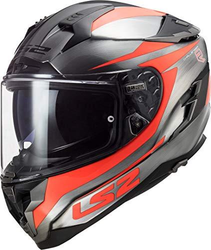 LS2 - Casco Integral para Moto Challenger Cannon Vaqueros neón Naranja XXL
