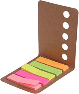 5 Pads/Pack Kraft Paper Cover Candy Color Sticky Notes Page Marker Index Tabs