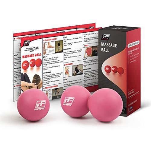RitFit Peanut Massage Lacrosse Ball für Myofaszial-Release, Triggerpunkt Therapie, Muskel Knoten,...
