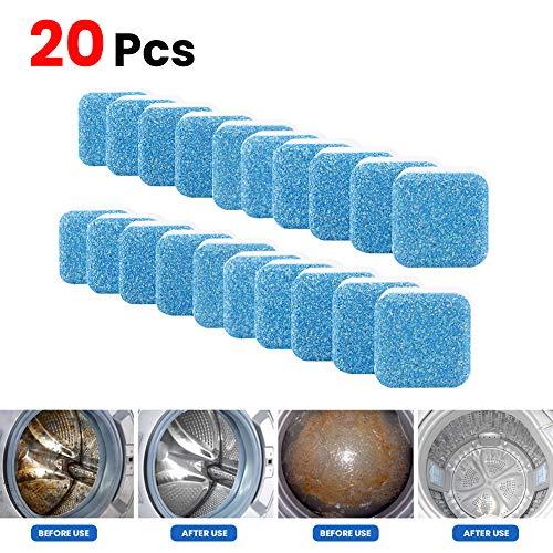 Luyao Waschmaschine Maschinenreiniger, Waschmaschine Brausewannenreiniger Entkalker Tiefenreinigungsentferner Deodorant Langlebiger, professioneller Flecken- und Geruchsbeseitiger (20pcs)