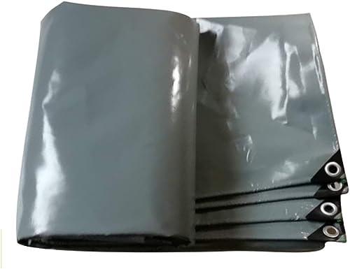 WSGZH Panneau De Bache De Prougeection De Bache De Pluie pour Couverture De Pluie De Jardin en Toile De Bache Lourde grise pour Extérieur - 100% étanche Et Résistant Aux UV, 550 G   M2, 4 Options