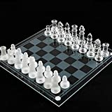 ⚘- Crystal glass chess pieces, delicate touch, strong and durable. ⚘-The bottom of the chess piece is made of flannel material, which is silent and non-slip, and it is not easy to wear the chessboard. ⚘-Transparent chessboard, matte chessboard, beaut...