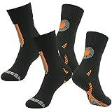 RANDY SUN Waterproof Breathable Socks, Men's Performance Colorful Trail Hiking Through Water Novelty Wader Socks 2 Pairs Black S