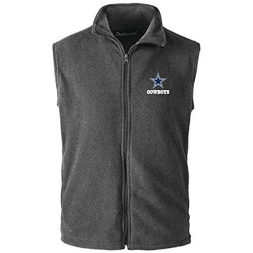 NFL Dallas Cowboys Men's Houston Fleece Vest, X-Large, Team Color>