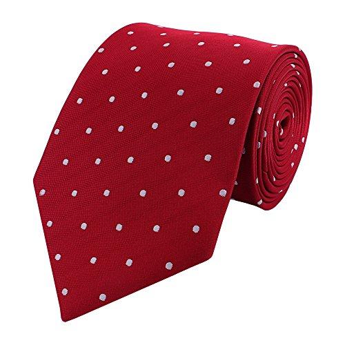 Fabio Farini Cravate de à pois en rouge blanc
