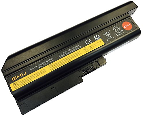 New GHU Battery 73 WH Replacement for 41++ 40Y6797 40Y6799 42T4619 42T4620 92P1133 40Y6795 92P1133 Compatible with Lenovo T60 R60 R60e T60p Z60 Z60m Z61 Z61p T500 W500 R500 SL300 SL400 SL500