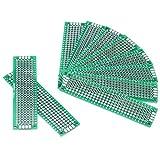 Placa de prototipos de 10 piezas, placa de rejilla lateral doble de 2 cm × 8 cm Placa de circuito...