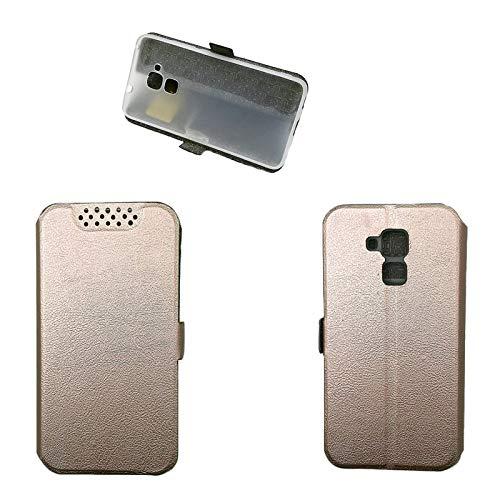Hülle für Huawei GT3 Hülle Leder ,Hülle für Huawei GT3 NMO-L02/L03 NMO-L22/L23 NMO-L31 / Honor 5C NEM-L21 NEM-L51 NEM-TL00H NEM-UL10 NEM-AL10 / Honor 7 Lite Hülle Klapphülle Handytasche Hülle Pink gold