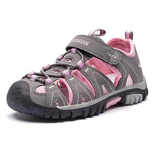 WZHKIDS Boys Girls Sport Water Sandals Closed-Toe Outdoor(Toddler/Little Kid/Big Kid) (Pink, Numeric_8)