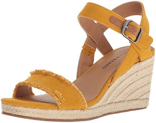 Lucky Brand Women's Marceline Espadrille Wedge Sandal, Saffron, 10 M US