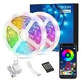 AWANFI Tira LED RGB 15M, Luces LED Habitacion 12V 300 LEDs Tiras Luces Adhesiva Multicolor SMD5050 con RF Control Remoto de 44 Teclas, Decoración para Hogar, Techo, Escaparate, Muebles