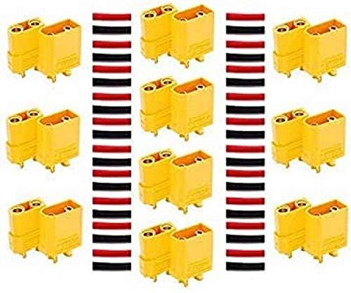 YUNIQUE DEUTSCHLAND ZQ-KTK2-G1YZ 20 Stück (10 Paar) Nylon XT90 Hochstrom Stecker-Connector-XT 90