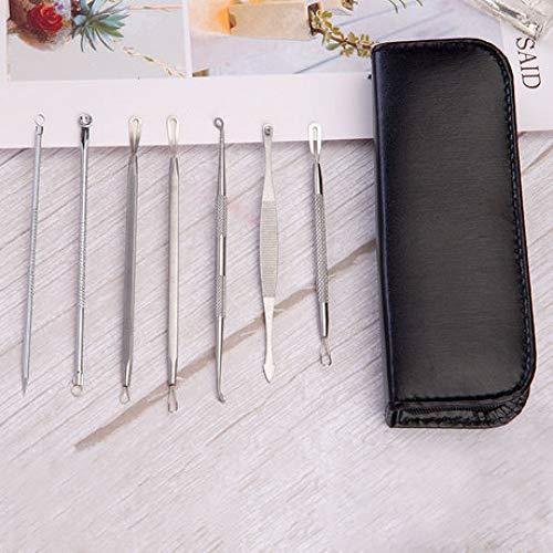 Sxuefang Acier Inoxydable Aiguille acné 7 pièces Set acné Points Noirs acné Aiguille beauté Outil