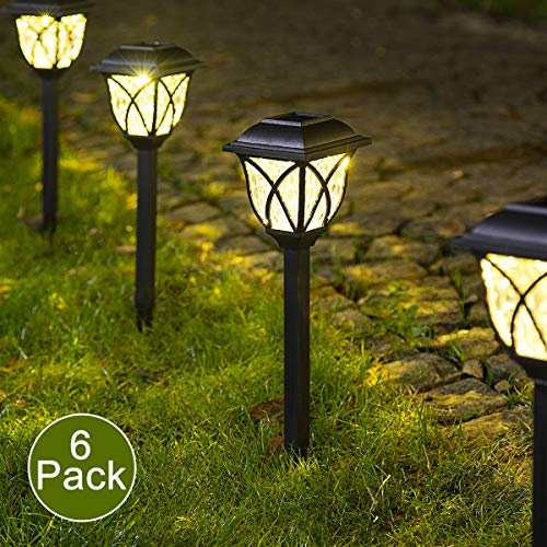 Solpex Solar Pathway Lights Outdoor, LED Solar Garden Lights, Waterproof Solar Landscape Lights for Lawn, Patio, Yard, Garden, Walkway. (6 Pack)