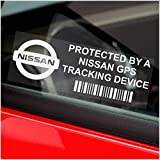 5 x PPNISSANGPS GPS Tracking Device Security Window Stickers 3.4x1.2 INCHES-Car,Van Alarm Tracker