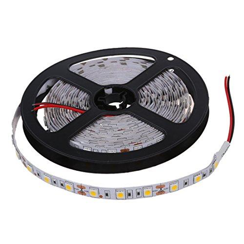 MLXG - Luces de Navidad 300 5050 SMD LED barra tira rayas guirnalda luminosa 12 V blanco cálido