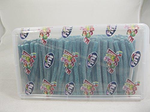 Tuberoos Blue Color White Fondant Filled Sour Licorice Sticks, Raspberry Artificially Flavor. - 200 Pieces Tub