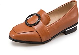 BalaMasa Womens APL12057 Pu Block Heels