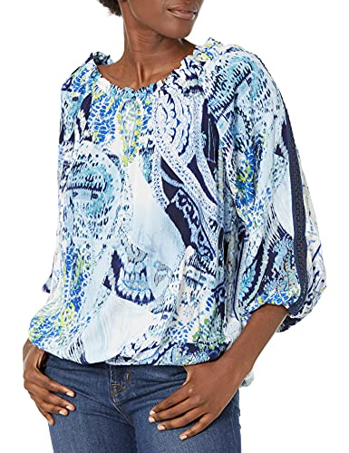 Desigual BLUS_Sheila, Azul, XL para Mujer