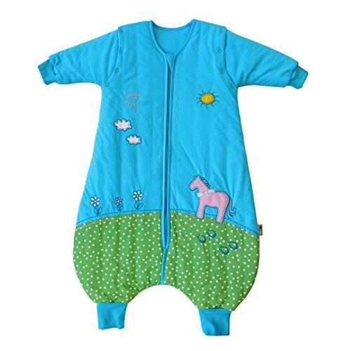 Saco de dormir Slumbersac para bebé con pies y mangas largas desmontables Grosor 2.5 -Poni - 12-18 meses/80cm