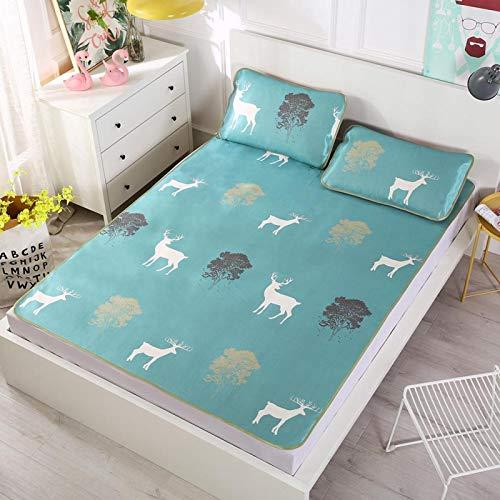 Emoshayoga Summer Cooling Matratze Topper Verschiedene Größen erhältlich(90 * 195cm Pillowcase 48 * 74cm*1)