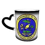 Taza de café con diseño de sello de las Islas Vírgenes