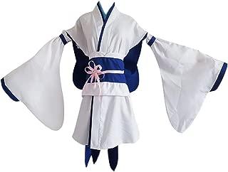 SAENSHING Japanese Anime Rem/Ram Lolita Kimono Dress Outfit Cosplay Costume
