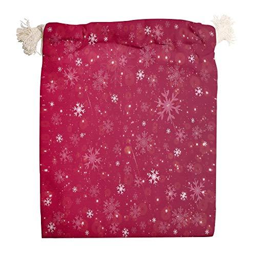 Jeffers Life - Bolsas de lona de Navidad para fiestas, 6 unidades, color blanco, tamaño 20*25cm