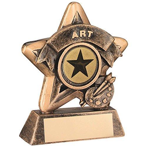 Lapal Dimension Mini Star Trofeo de Arte – BRZ/Oro (1 en el Centro) 3.75 Pulgadas