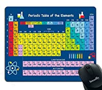 Smooffly Gaming Mouse Pad Custom,Periodic Table by Chemistry Elements for Classroom Geek Science Lovers Non-Slip Thick Rubber Large Mousepad [並行輸入品]
