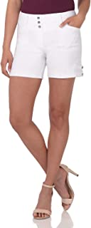 Women's Ease Into Comfort Stretchable Pull-On 5 inch Slimming Tab Short