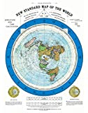 Riley Creative Solutions 1892 Flat Earth Map - Alexander Gleason's New Standard Map of The World 24 x 36 Large Wall Art Poster