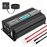 Pure Sine Wave 2500Watt Car Power Inverter Converter DC 12Volt to 110V-120V AC with LCD Display 2 AC Outlets 2x2.4A USB Ports 1 AC Terminal Block Remote Control[3 Years Warranty] by VOLTWORKS