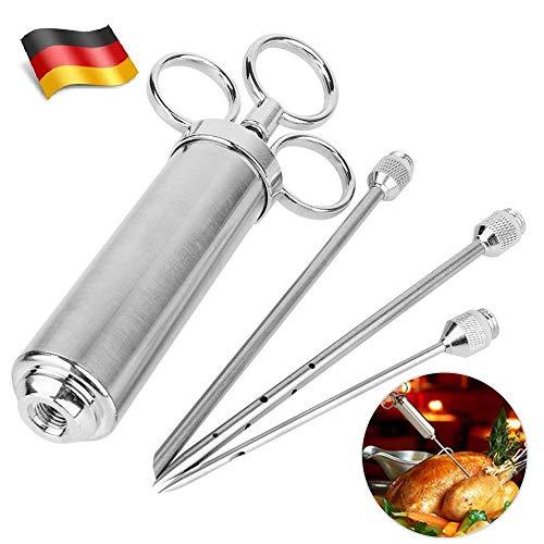 BALLSHOP Edelstahl Bratenspritze Marinadenspritze Gewürzspritze 2 Unzen Küchenhelfer für BBQ Fleisch Rind Huhn