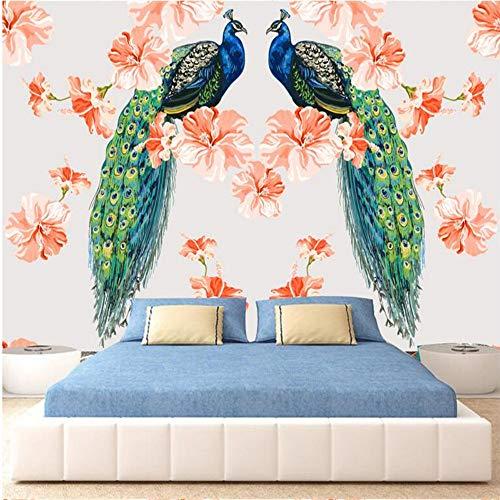 Meaosy aangepaste 3D muur muurschilderingen foto behang voor muren 3 D blauwe bloem schilderen muur papieren voor woonkamer tv achtergronden 450x300cm