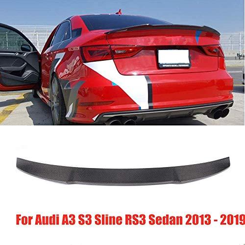HYNB Carbon Achterspoiler Kofferbak Lip Lip Voor Audi A3 S3 Sline RS3 Sedan 2013-2019