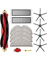 Kit i 13 delar för Xiaomi Roborock S6, S60, S65, S5, MAX, S6, MAXV och S6, rena dammsugartillbehör, 1 rullborste, 2 filter, 4 moppdukar, 4 sidoborstar, 2 rengöringsverktyg