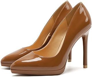 ab4b0ae2 mogeek Moda Zapatos con Tacon Alto para Mujer Plataforma Elegante Fiesta  Stiletto