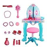 Dfghbn Pretend Play Maquillaje Juguete Set Princesa tocador de juguetes niña tocador tocador niños encantadora princesa de juguetes para niños tocador de juguete de control remoto tocador tocador