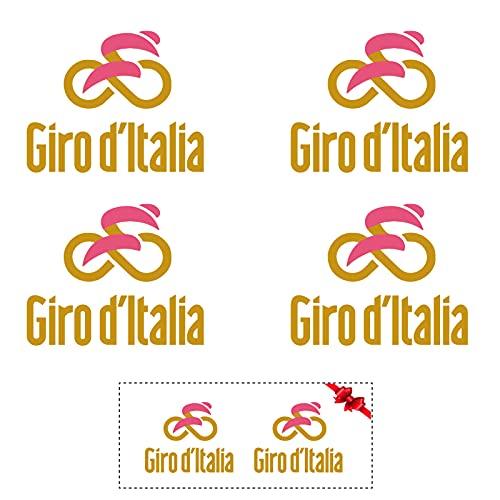 Sticker Mimo Pegatinas de Giro de Italia para bicicleta, moto, casco, coche, pasión, ciclismo (oro 25 cm)