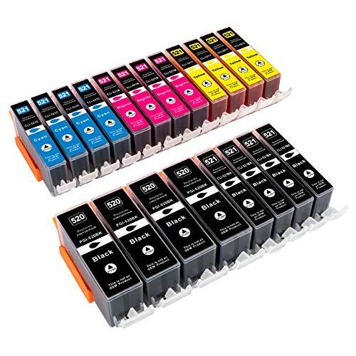 ESMOnline 20 komp. XL Druckerpatronen als Ersatz zu Canon PGI-520 / CLI-521 für Canon Pixma iP3600 iP4600 iP4700 MP540 MP550 MP560 MP620 MP630 MP640 MP980 MP990 MX860 MX870 (20er Set)