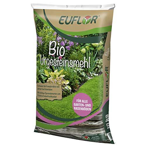 Euflor Bio Urgesteinsmehl 10 kg Sack • Zur biologischen Regeneration • aktiviert das Bodenleben • Fördert die Gesunderhaltung von Rasenflächen • Für den Einsatz im ökologischen Landbau