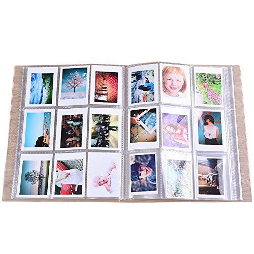 SAIKA 288 Taschen Transparent Mini Fotoalbum Schutz für Fujifilm Instax Mini 7 s 8 8 + 9 25 26 50 s 70 90 Sofortbildkamera, HP Ritzel, Polaroid Z2300, Polaroid PIC-300P Film (Transparent)